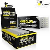 ANABOLIC AMINO ACIDS 5500 + HMBOLON- Muscle Mass Gain - Recovery - Fat Reduction