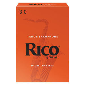 Rico Tenor Saxophone Reeds Strength 3.0 (Box of 10)