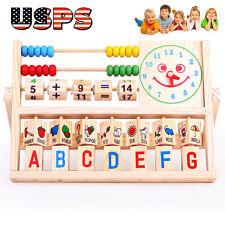 Children Baby Kids Learning Developmental Versatile Flap Abacus Wooden Toys USPS