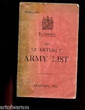 br- British - QUARTERLY ARMY LIST JAN.1922, 2 VOL SET    sb