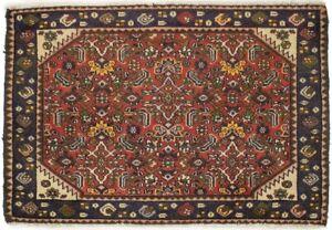 Vintage Floral Tribal Style Rust Orange 2X3 Oriental Rug Kitchen Bathroom Carpet