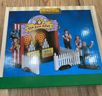 LEMAX Tin Can Alley Set of 7 Circus Carnival Village Accessory Christmas NIB