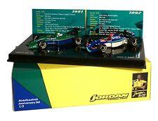F1 jordan ford 191 y jordan yamaha 192 set 1:43 Minichamps 402109192 nuevo & OVP