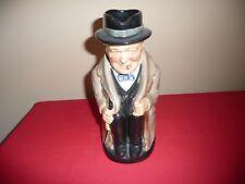 """Royal Doulton Large 8-1/2""""H Winston Churchill Character Toby Jug Mug"""