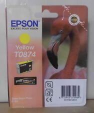 Epson t0874 tinta Yellow para Stylus Photo r1900 c13t08744010 OVP