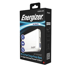 Energizer Ultimate 10000 mAh PD 3.0 Fast Charge Power Bank! UE10030MP! Portable!