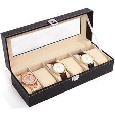Leather Watch Box Glass Screen Case Storage Display Jewelery Gift Organiser Mens