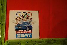 Alter Aufkleber Auto SEAT Ladies Cupp '92