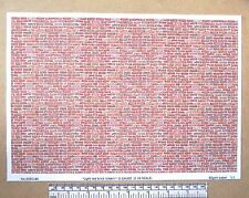 "G gauge (1:24 scale) "" Light red brick(clean) ""  paper - A4 sheet"
