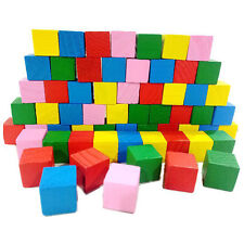 20Pcs 2CM Wooden Colorful Building Square Block Kids Early Educational Toy Gift