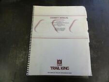 Trail King Tk110hdg 533 13 Hyd Detachable Gooseneck Trailer Owners Manual