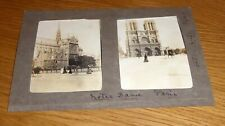 """Two lovely 1903 Original Photographic Prints of NOTRE DAME Cathedral 4"""" x 3"""""""