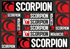 Scorpion Decals Stickers for Exhaust Graphic Set Vinyl Adhesive 14 Pcs Black