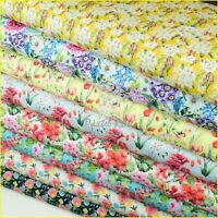 EXQUISITE Digital Printed Floral 100% COTTON Fabric -Extra Wide 150cm sew, quilt
