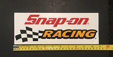 "Snap-on RACING Genuine 10-7/8"" x 4-1/8""  LOGO Sticker Decal"