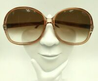 Vintage World Of Frames Tijuana Peach Oversized Butterfly Sunglasses Hong Kong