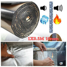 10mm Sound Deadener Cotton Car Hood Engine Firewall Heat Insulation Aluminum Mat