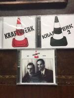 Kraftwerk 1 ( rotes Hütchen ), 2 (grün) und Ralf & Florian   3-er Paket CD's NEU
