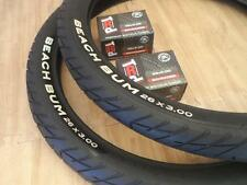 "Pair of 2 Beach Cruiser BEACH BUM Bicycle Tires & Tubes 26x3.0 Chopper 26""x3"""