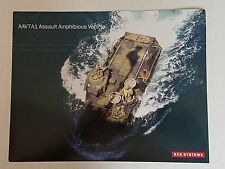 AAV7A1 Assault Amphibious Vehicle Data Sheet / BAE Systems NEW Style 2 Military