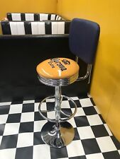 CORONA BAR STOOL- CHROME GAS LIFT WITH BACK