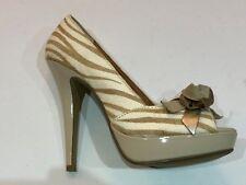 Ladies Dune Head Over Heels Jungle Stripe Heels UK Size 5 EU 38 Absolute Bargain