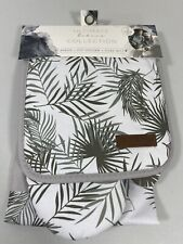 New listing New Eco One Ultimate Bakers Collection Apron Pot Holder Oven Mitt Leaf 3 Pc Set