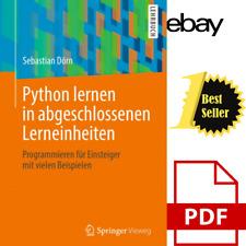 Python lernen in abgeschlossenen Lerneinheiten: Programmieren für Einsteiger mit
