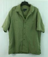 5.11 Tactical Series Men's L Concealed Carry Ambidextrous Green Button Polo