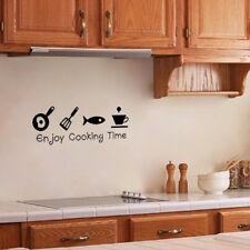 Kitchen Enjoy Cooking Time Wall Sticker Decals Wall Decor Mural Decor Vinyl Home