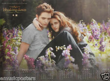 "TWILIGHT ""BREAKING DAWN, BELLA & EDWARD IN FLOWER FIELD"" THAILAND PROMO POSTER"