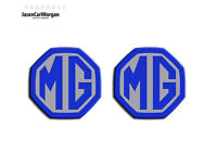 MG ZS MK1 LE500 Style Front & Rear Badge Inserts 59mm Blue &Silver Badges