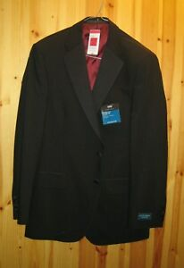 Evening wear jacket by M&S satin piping to pocket flaps double vent back