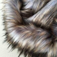 ' Eclipse ' - luna-grey with warm tips - faux fur fabric - furaddiction