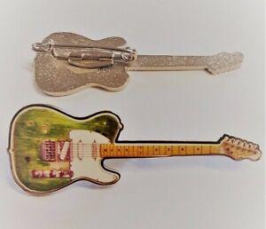 Telecaster Guitar Enamel Pin Badge As Played by Status Quo's Rossi & Parfitt