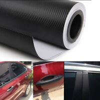 3D Black Carbon Fiber Vinyl Car Auto Wrap Sheet Roll Film Sticker Decal 1mx 40cm