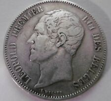 1850, 5 francs, Belgium silver coin with Belgian king Leopold I