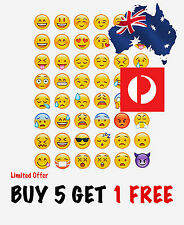 48 Emoji Smile Face Die Cut Diary Planner Scrapbook Stickers For notebook iPhone
