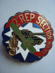 Insigne Militaire Parachutiste 2e REP SECTION MILAN 1