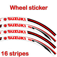Suzuki Wheel Sticker Red Reflective Motorcycle Racing Rim Tape Decal Moto Stripe