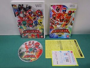 Nintendo Wii Super Sentai Battle Ranger Cross. caution sheet, etc. *JP* 58383