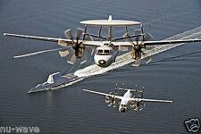 U.S. Navy-An E-2D Hawkeye and a C-2A Greyhound fly over Uss Zumwalt (Ddg 1000)