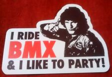 Old School BMX - Hot Rod I RIDE BMX & I Like To Party Sticker (GT/Haro/Dyno)