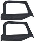 Smittybilt Soft Top Upper Half Door Skins Black 89735 97-06 For Jeep Wrangler