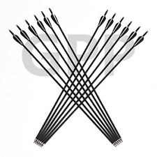 """New listing GPP Outdoors Carbon 30"""" Black Shaft Arrows with Field Points Replaceable Tips 12"""