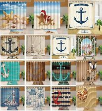 "72x72/"" Waterproof Fabric Shower Curtain Liner Christmas Snow Birds Lighthouse"