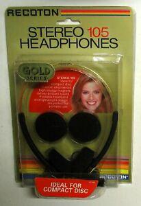 Cuffia Stereo Nera - RECOTON  105 -  Vintage Stereo Headphones Black