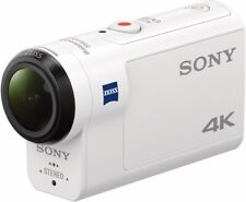 Sony FDRX3000R/W 4K HD Recording, Live View Underwater Camcorder, White