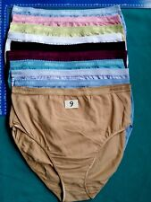 7 Body Bleu Women's Stretch fit underwear panties 95% cotton plus size L-XXXL