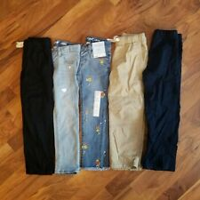 Cat & Jack Lot of 5 girls clothes Jeans Pants Skinny Stretch Size 5 and 5T Bin3